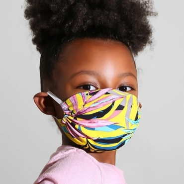 Lovely Print Yellow Face Mask