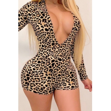 lovely Stylish Print Brown One-piece Romper