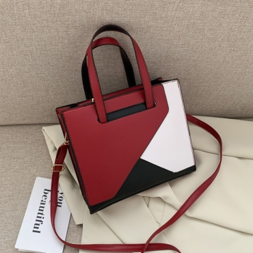 lovely Trendy Patchwork Red Messenger Bag