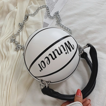 lovely Chic Basketball White Crossbody Bag