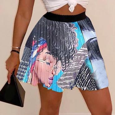 Lovely Stylish Print Black Skirt