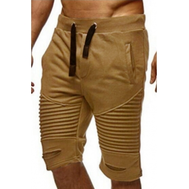 lovely Sportswear Patchwork Khaki Shorts