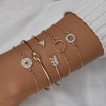 lovely Street 5-piece Gold Bracelet