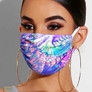 Lovely Print Blue Face Mask