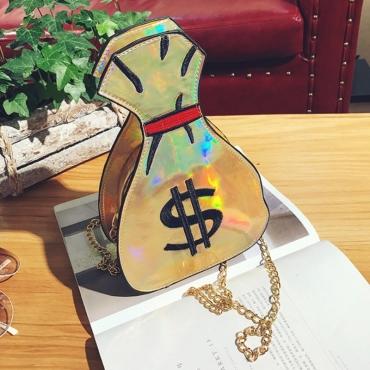 lovely Chic Chain Strap Gold Crossbody Bag