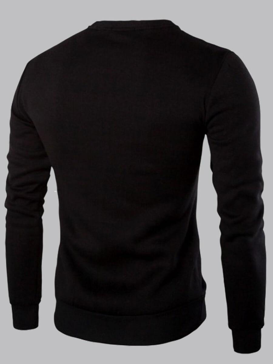Men lovely Casual O Neck Zipper Design Patchwork B