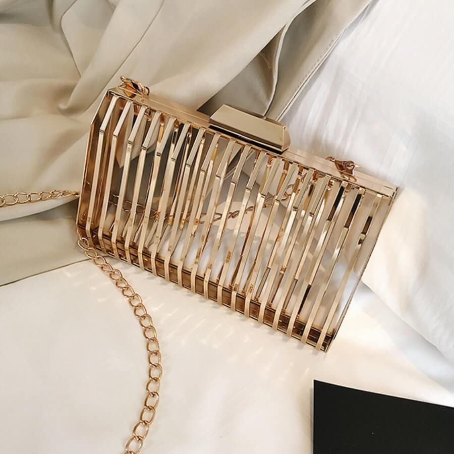Messenger Bag&Crossbody Bag lovely Stylish Chain Strap Champagne Crossbody Bag фото