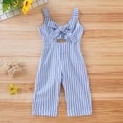lovely Stylish Striped Baby Blue Girl One-piece Ju
