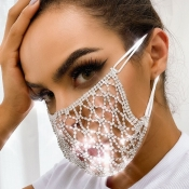 lovely Hollow-out Silver Face Mask