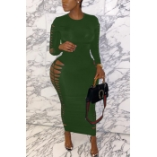 lovely Sexy Hollow-out Green Ankle Length Plus Si
