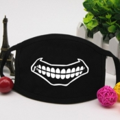 lovely Print Carbon Black Face Mask
