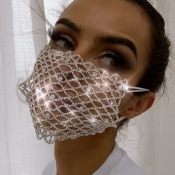 lovely Hollow-out SilverFace Mask