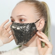 lovely Sequined Gold Face Mask