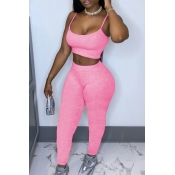 lovely Sportswear Basic Skinny Pink Two Piece Pant