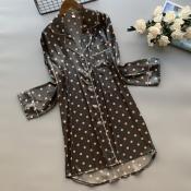 lovely Leisure Dot Print Black Sleepwear