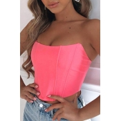 lovely Sexy Dew Shoulder Pink Camisole
