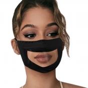 lovely Print Patchwork Black Face Mask