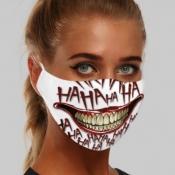 lovely Print White Girl Face Mask