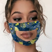 lovely Print Patchwork Blue Face Mask