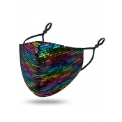 lovely Sequined Multicolor Face Mask