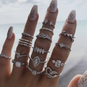 Lovely Street 15-piece Silver Ring