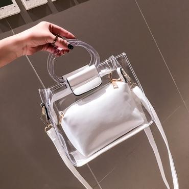 lovely Casual See-through White Messenger Bag