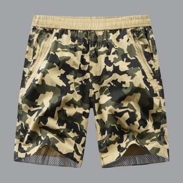lovely Leisure Print Yellow Shorts