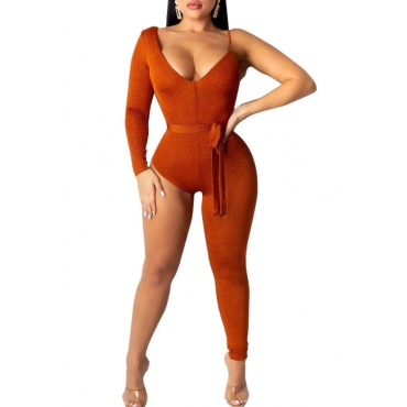lovely Sexy Asymmetrical Orange Red One-piece Jumpsuit