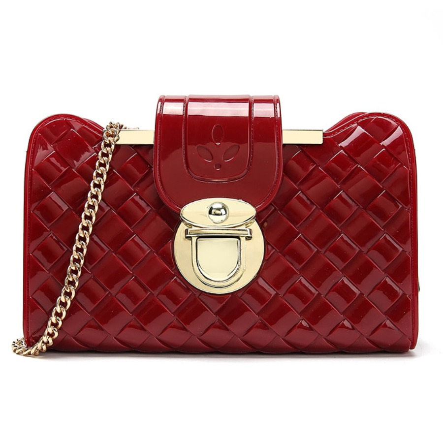 Messenger Bag&Crossbody Bag lovely Stylish Chain Strap Red Crossbody Bag фото
