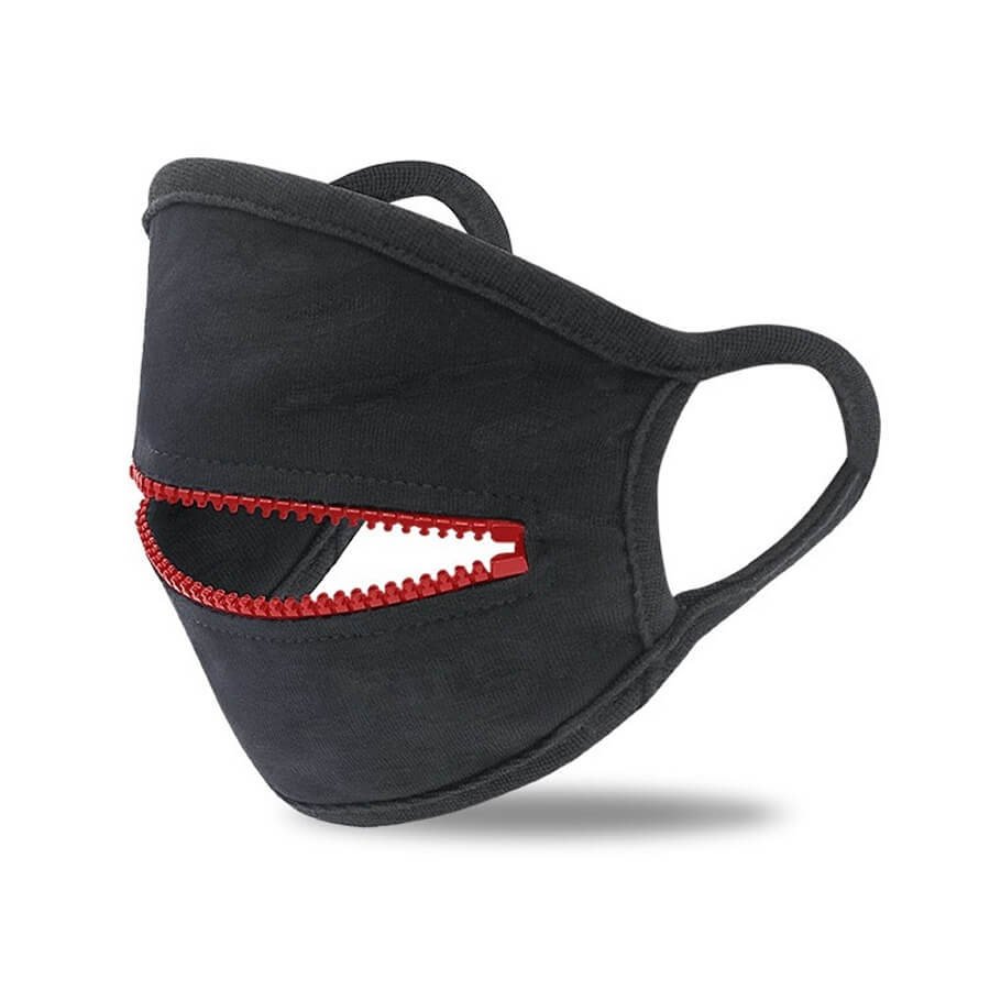 Lovely Zipper Design Red Face Mask фото