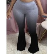 lovely Casual Gradient Black Plus Size Pants