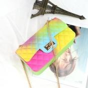 Lovely Stylish Chain Strap Green Messenger Bag
