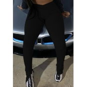 Lovely Casual Skinny Black Leggings