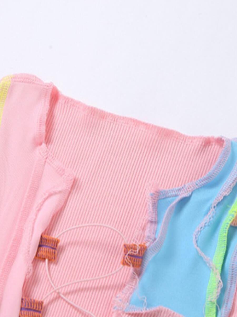Lovely Sexy Bandage Design Pink Camisole