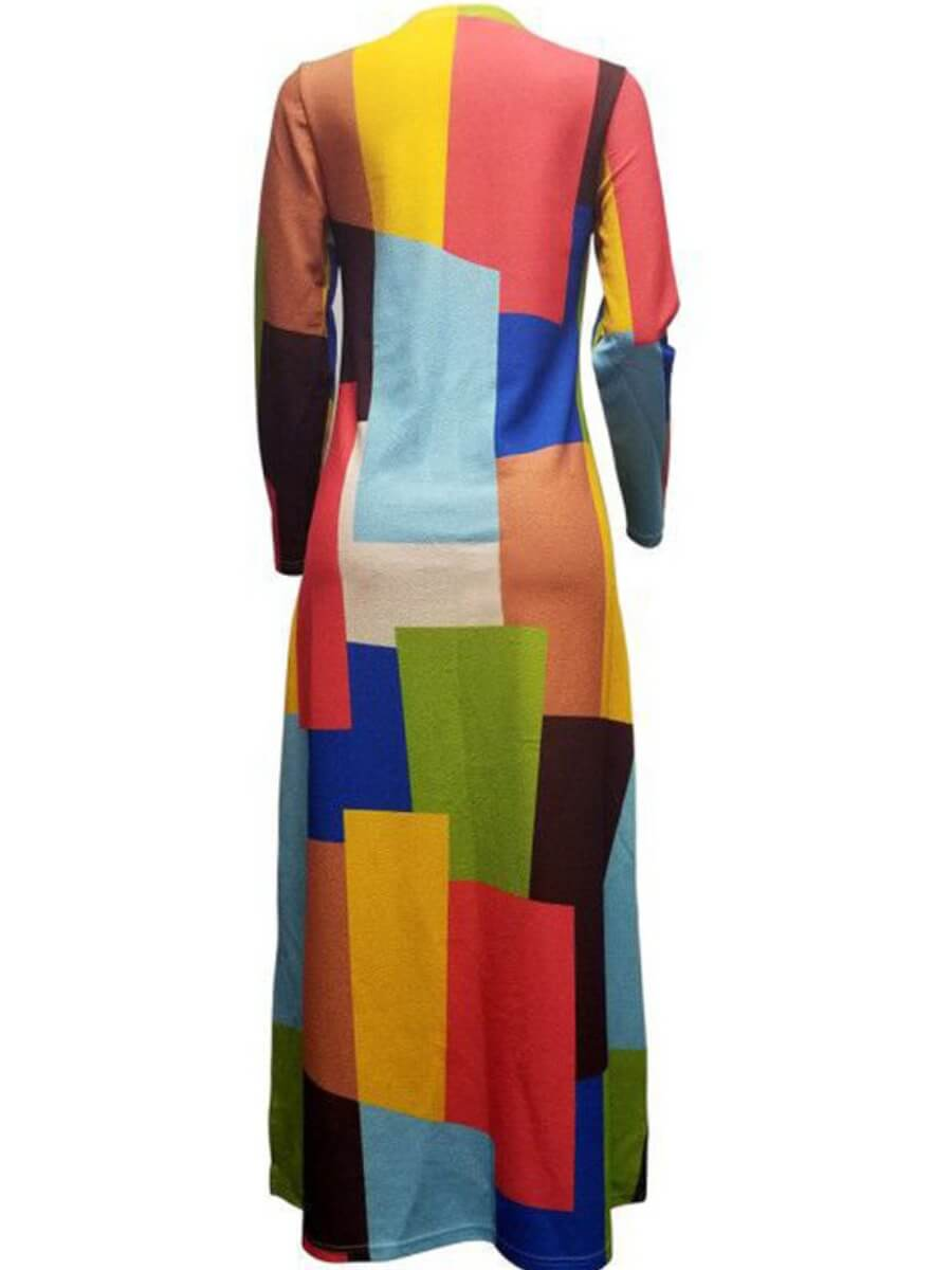 Lovely Plus Size Casual Print Multicolor Long Coat