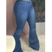 Lovely Trendy Skinny Blue Jeans