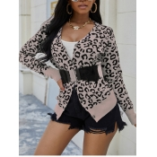 Lovely Stylish Leopard Print Cardigan