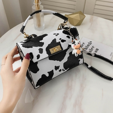 Lovely Trendy Print White Crossbody Bag
