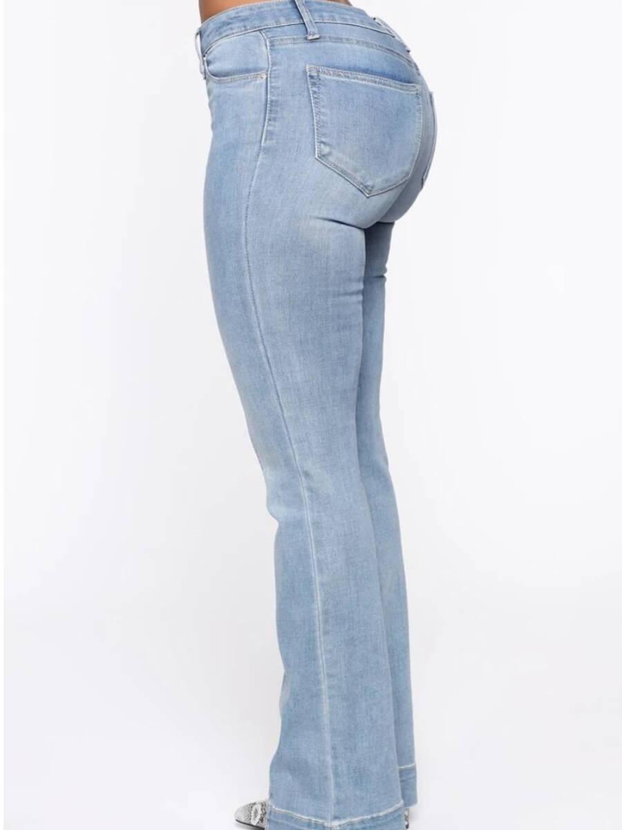 Lovely Street Patchwork Skyblue Jeans
