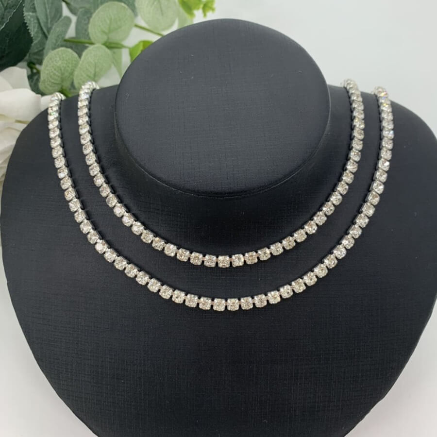 LW Trendy Hollow-out Silver Necklace