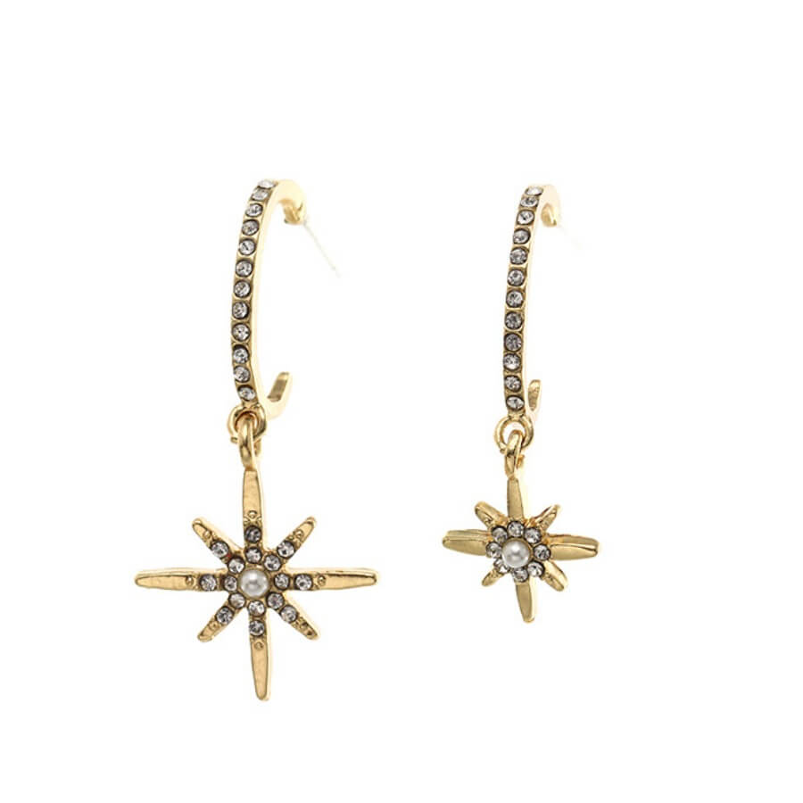 Lovely Chic Patchwork Gold Earring