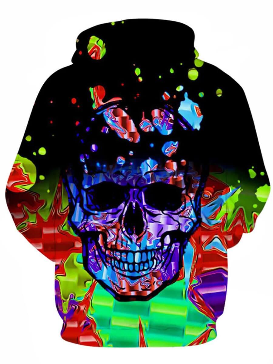 Lovely Street Hooded Collar Print Black Men Hoodie