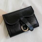 lovely Casual Basic Black Coin Purses