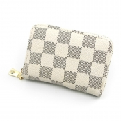 lovely Trendy Grid Print White Coin Purses