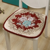 lovely Trendy Print Red Chair Pads