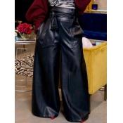 lovely Stylish High-waisted Black Pants