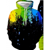 lovely Stylish Hooded Collar Print Black Boy Hoodie