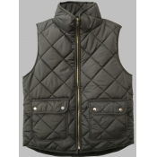 lovely Casual Pocket Patched Army Green Waistcoat