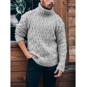 lovely Casual Basic Grey Men Sweater