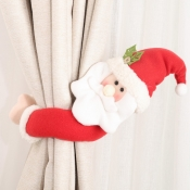lovely Christmas Day Cartoon Red Decorative Curtai